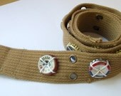 Manly Man - Tan Cotton Belt adorned with Bottle Caps (30-37.5 inches)