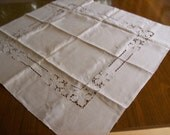 Vintage Square linen tablecloth