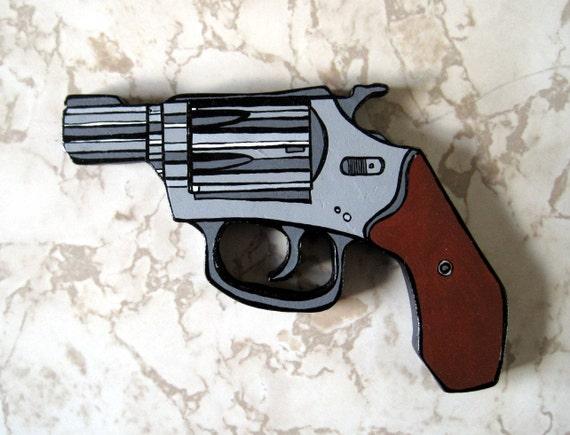 SALE Wooden Gun 2 original painting~2-D sculpture