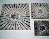 SALE Vintage Modern Georges Briard Glass Dish Set