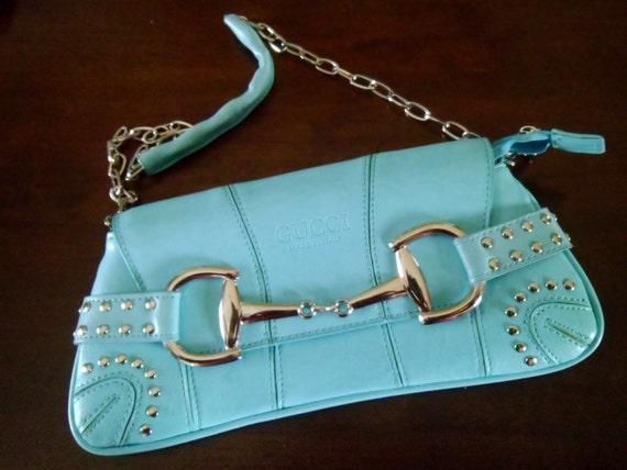 1980's-1990's Turquois Handbag Says Gucci