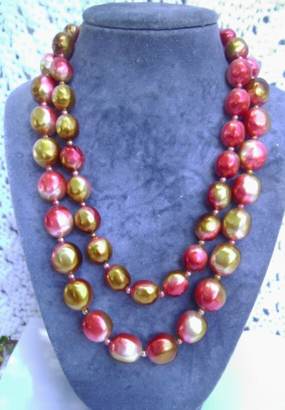 Vintage Necklace: Double Strand  1950's