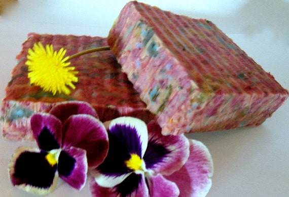 NC MOUNTAIN BLISS- Handcrafted, all natural, vegan, hemp oil fusion herbal soap