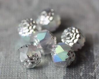 SMASHING .. 6 Fire Polished Czech Glass Beads 8mm (1320-6)