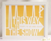 Way to the Show, Tangerine - 8x10 Print