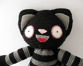 Major Tom (Tommie) Hand Knitted Cat