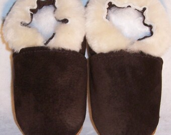 winter sheepskin lined leather baby shoes genuine sheepskin trim