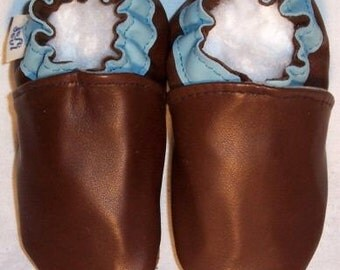 brown leather soft soled shoes size 18-24months