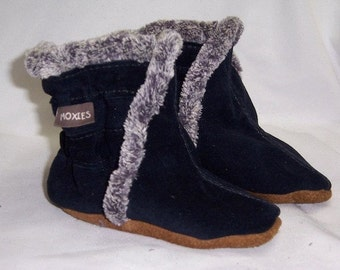 Baby boots navy suede leather booties, for baby boy boots,warm boots for winter, baby boots , handmade winter boots