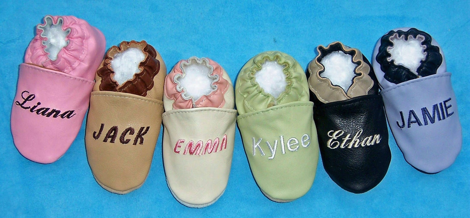 handmade leather baby shoes personalized baby shoes genuine