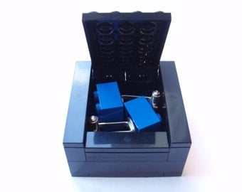 BLACK Cufflinks Gift / Display Box. Handmade with LEGO(r) bricks - cufflinks sold separately, grooms cufflinks, wedding cufflinks, cufflinks