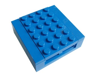 BLUE Necklace Gift / Display Box. Handmade with LEGO(r) bricks  - necklace sold separately