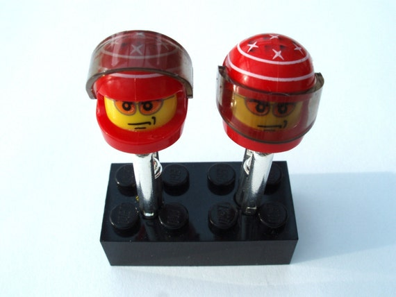 Michael Schumacher Ferrari Inspired Cufflinks - Handmade with LEGO(r)