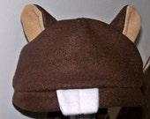Fleece Animal Hat Beaver