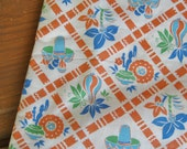 Vintage Mexican Themed Feedsack Fabric