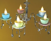 Alice in Wonderland Coffee Cup Chandelier (United Kingdom Shipping Rate)