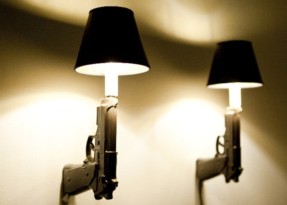Wall Decor Lamps : Mm gun sconce