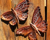 Copper Butterfly Sculptures by Mark - with burgundy and red-orange patina - OOAK