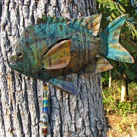 Helsa copper damsel fish with naturally aged tiger striped for Tiger striped fish