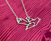 Silver Bird Makes a Statement Necklace