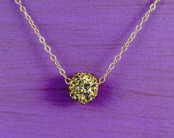 Golden Swarovski Cluster Necklace