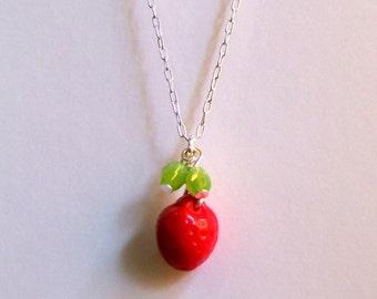 Strawberry - ie Fragaria x ananassa - Necklace