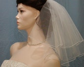 Pretty 2 Tier Shoulder length Flyaway Wedding Veil