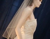Softly Flowing Bridal Veil in the  Cascading Waterfall Style