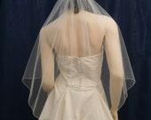 Angel Cut Bridal Veil sprinkled with glittering Swarovski Rhinestones