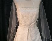 Beautitul Glittering Cascading Cut Shimmer White Bridal Veil Fingertip length accented with Scattered Swarovski Rhinestones
