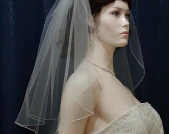 1 Tier Short Flyaway Wedding Veil