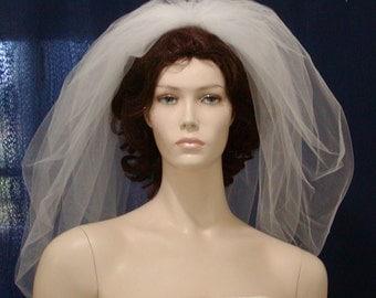 Bubble Bridal Veil Elbow Length