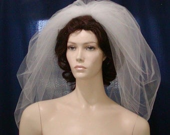 Elbow Length Bubble Bridal Veil