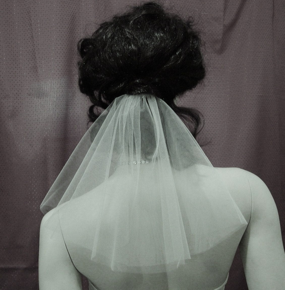 Informal Bridal Veil Short Circle Cut Perfect For The