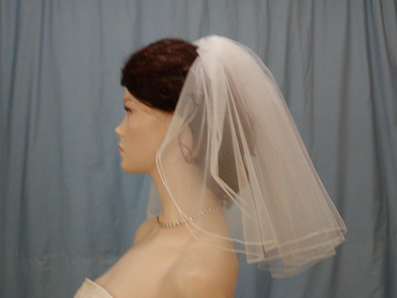 Wedding Bridal Veil 2 Tier Madonna Flyaway By BellaBridalVeils
