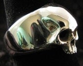 Sterling Silver Smaller  Skull Ring 1 Size 9.5