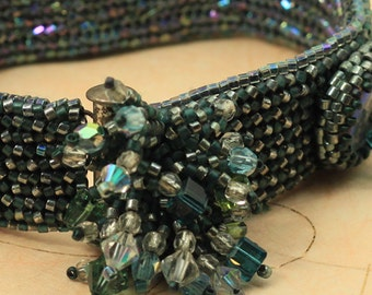 Maid Marian woven cuff bracelet