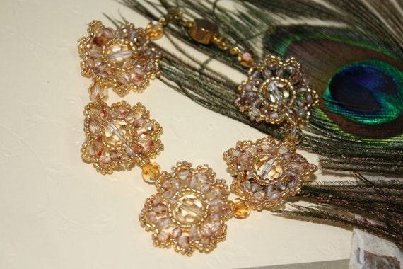 Golden Shadow woven crystal bracelet
