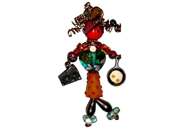Bead Babe Pin - SHORT ORDER COOK