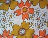 Retro 70's flower print cotton