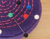 Spiral Purple Pin Cushion