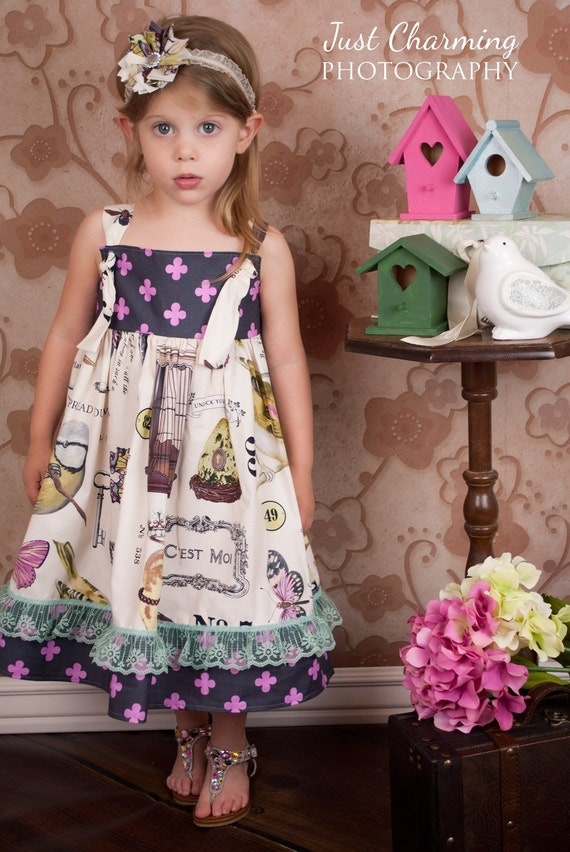 Summer Knot Dress in Spreading Her Wings Toddler Girls