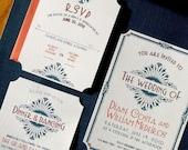 Art Deco/Vintage Glam Wedding Invitations --DIY Wedding Digital Download or Printed for You