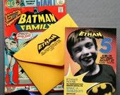 Super Hero Birthday Invitation -- DIY Digital Download