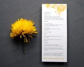 DIY Wedding Menu or Program -- The Rebecca -- Customized Digital Download or Printed For You