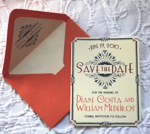 SAMPLE -- Art Deco/ Vintage Glam Save the Date