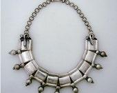 Vintage Sterling Silver Tribal Snake Necklace Jaipur Rajasthan India
