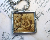 A Special Charm for a New Mom, Mom to Be, or even for a OB.GYN...A OOAK Soldered Glass Pendant Necklace
