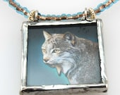 The Lynx and the Otter - Reversible Picturebox Necklace