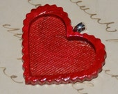 All My Love Red Heart Pendant with Bezel